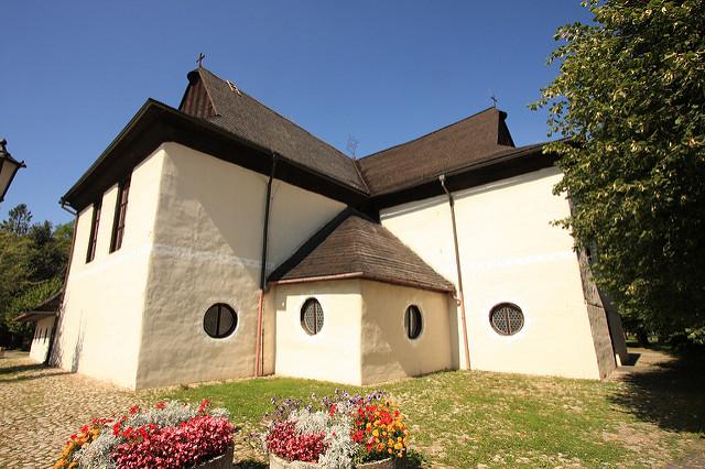 カルパチア山地のスロバキア地域の木造教会群の画像18