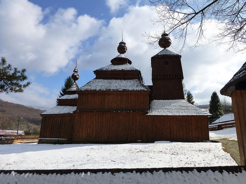 カルパチア山地のスロバキア地域の木造教会群の画像21