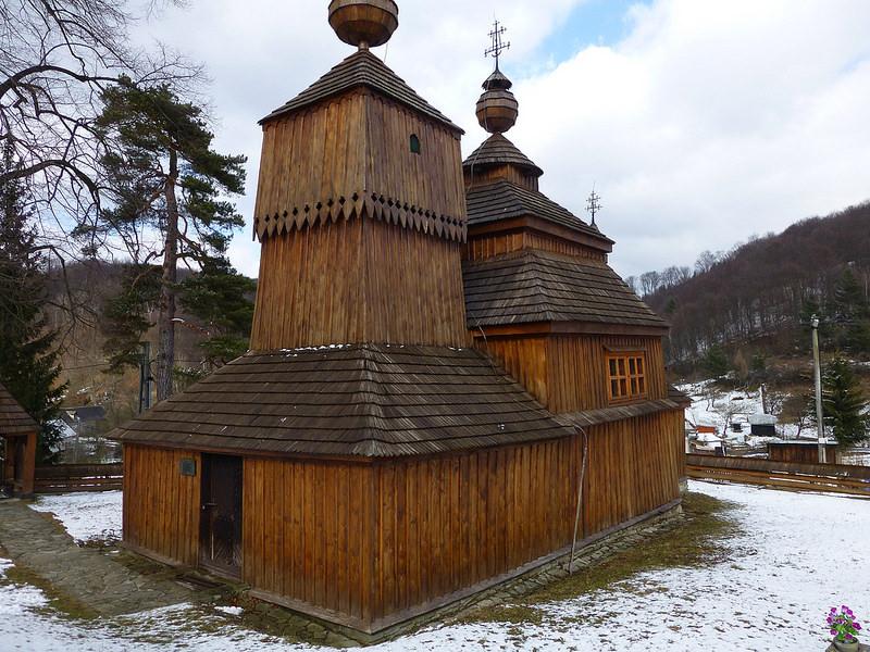 カルパチア山地のスロバキア地域の木造教会群の画像26