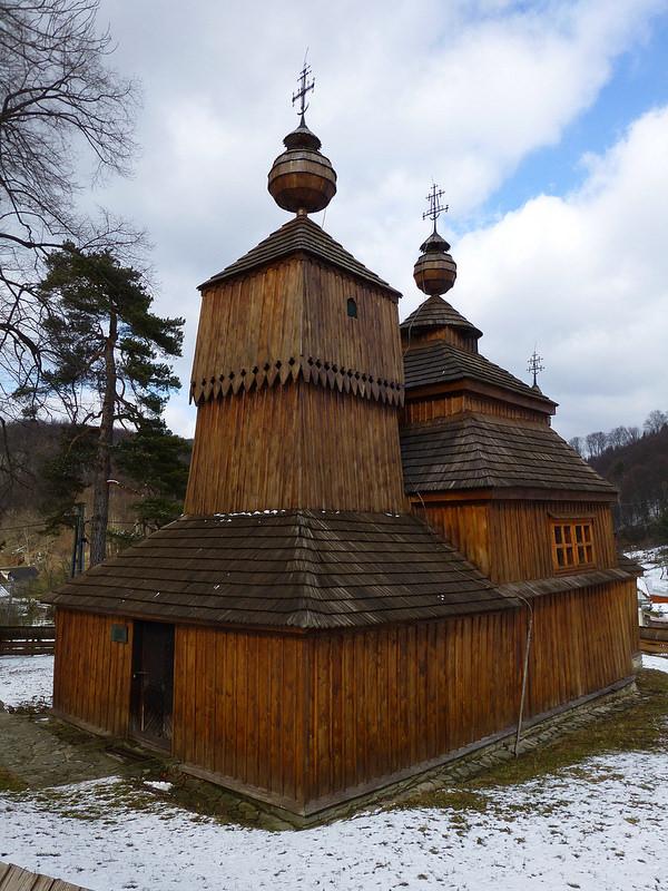 カルパチア山地のスロバキア地域の木造教会群の画像27