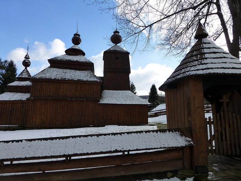 カルパチア山地のスロバキア地域の木造教会群の画像28