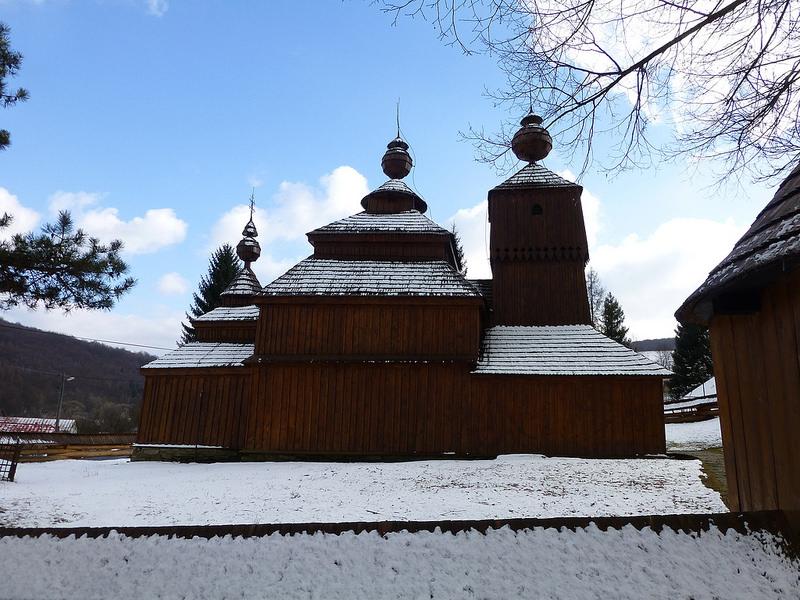 カルパチア山地のスロバキア地域の木造教会群の画像29