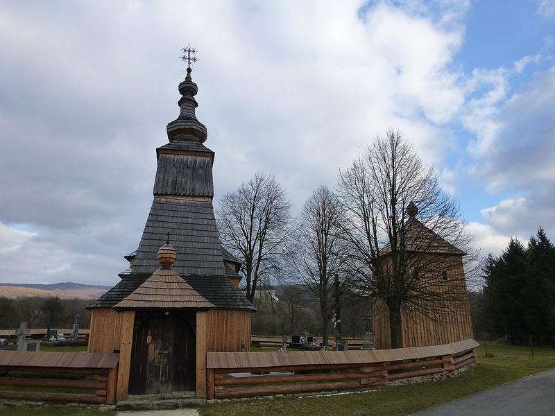 カルパチア山地のスロバキア地域の木造教会群の画像30